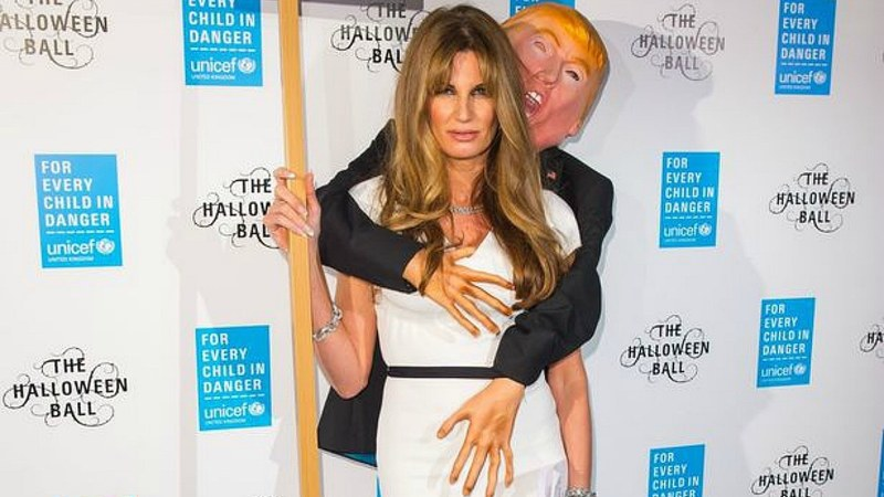 Jemima Khan's Halloween costume makes a statement about Donald ...