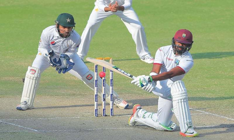 West Indies trail Pakistan by 264 after slow test day