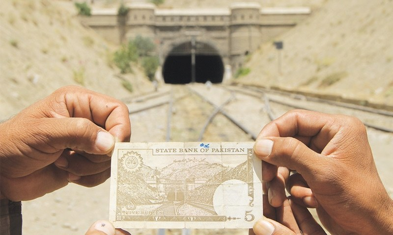 The State Bank of Pakistan included the Khojak tunnel in the five rupee note from 1976 until  2005.