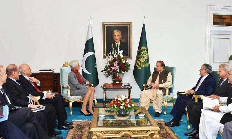 International Monetary Fund Managing Director Christine Lagarde meets Prime Minister Nawaz Sharif at PM House. ─ PM Office
