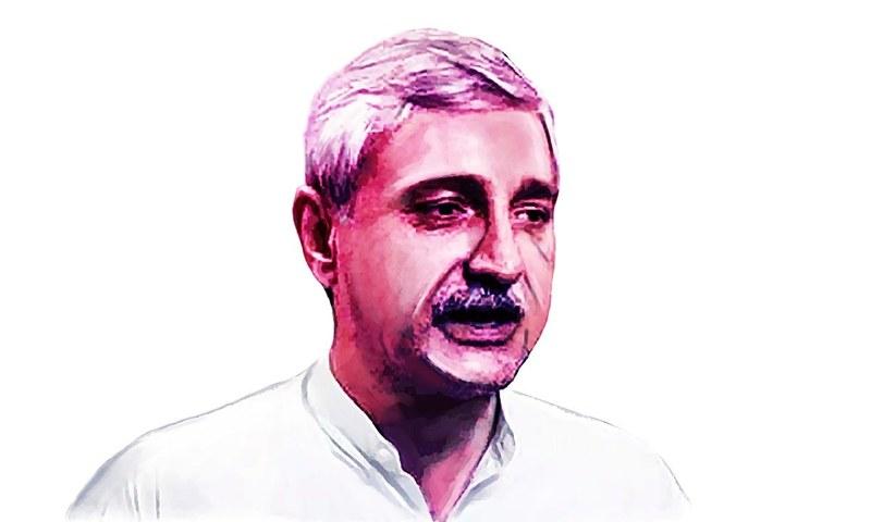 جہانگیر ترین کے خلاف پارٹی میں کئی بار آواز اٹھ چکی ہے— خاکہ آن عباس