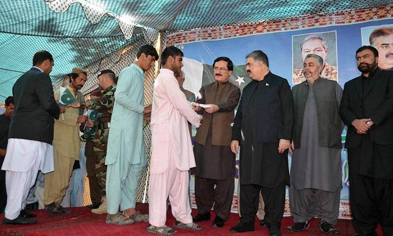 Balochistan CM  Nawab Sanaullah Zehri, Commander Southern Command Lt Gen Amir Riaz and other  civilian and military officials were  present on the occasion. —Asmatullah Kakar