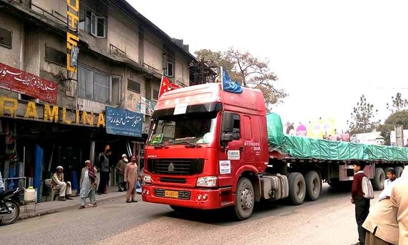 Chinese ship, trade convoy reach Gwadar port