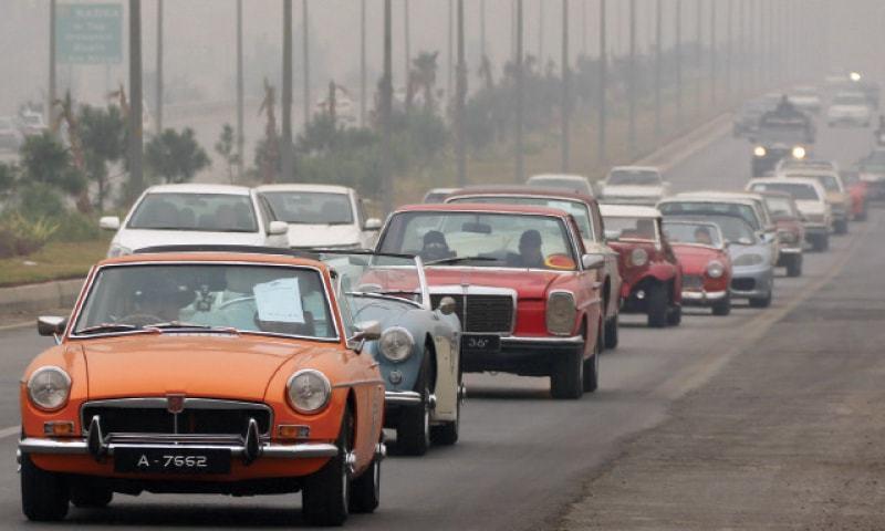 Classic Cars Show Draws Crowd In Peshawar Newspaper