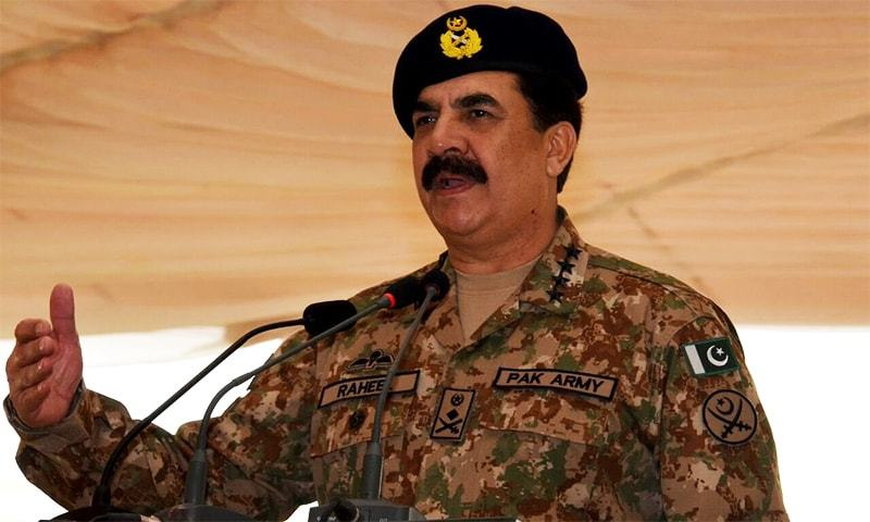 COAS Gen Raheel Sharif speaks at the Lahore Garrison. ─ Photo courtesy DG ISPR Asim Bajwa Twitter