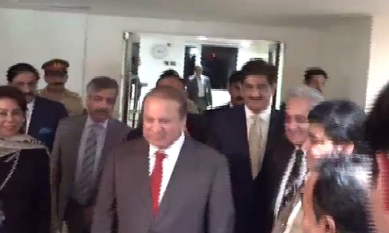 PM Nawaz visits hospitalised Sindh Governor Justice Saeed in Karachi