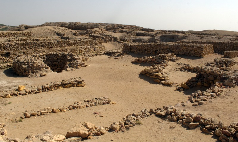 """The ruins consists of a """"citadel"""" encircled by bastions. —Tauseef Mallick"""