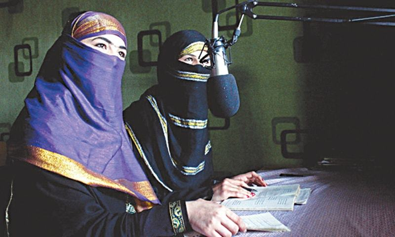 Broadcasters at Radio Shaesta prepare to go on-air in Kunduz, Afghanistan. — AP