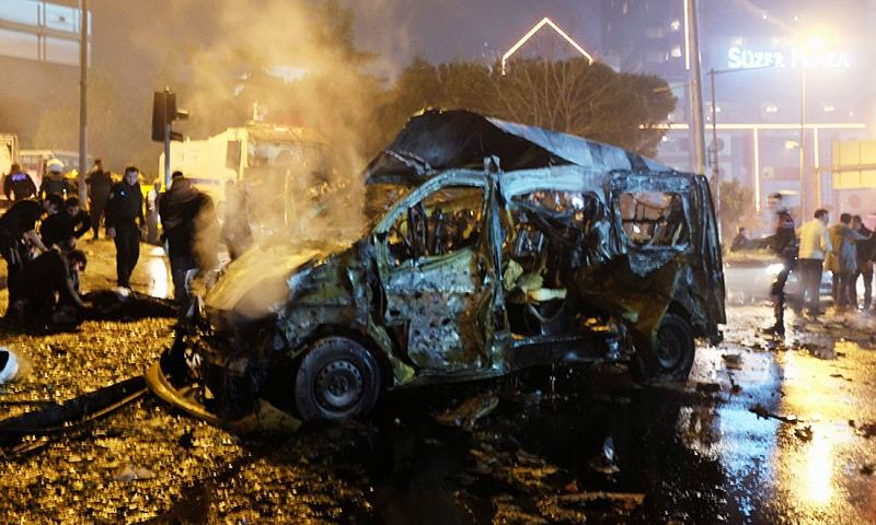 Kurdish militants may be behind soccer bombing that killed 38: Turkey