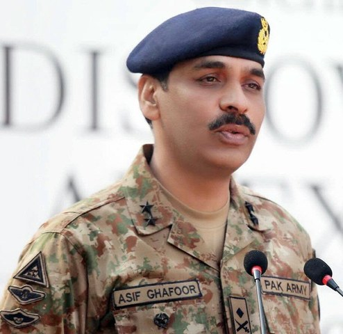 Maj Gen Asif Ghafoor. ─ Photo courtesy ISPR.