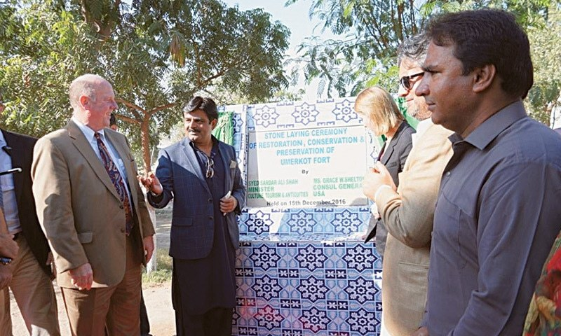Us Diplomat Launches Umerkot Fort Restoration Scheme Newspaper