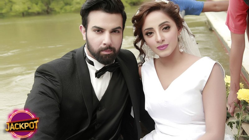 Noor Hassan and Sanam Chaudhry in upcoming film 'Jackpot.'