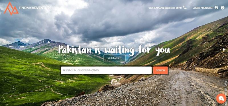 -FindMyAdventure homepage