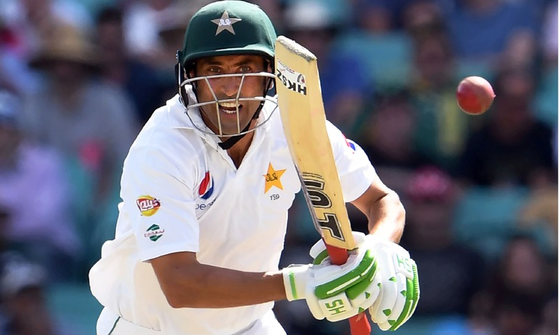 Younis Khan plays a shot during the second day of the third Test at the SCG. —AFP