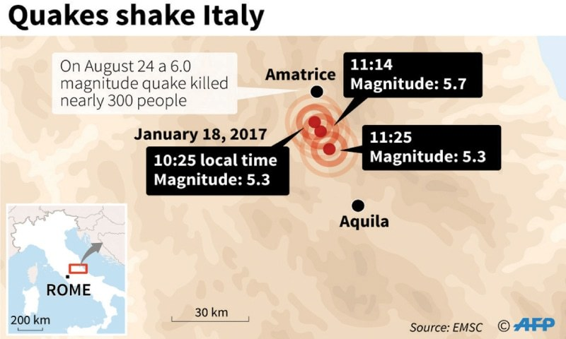 Tremors felt in Rome as three large earthquakes hit central Italy