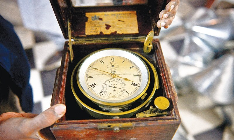 A SHIP captain's chronometer watch, the most expensive thing at the antiques shop.