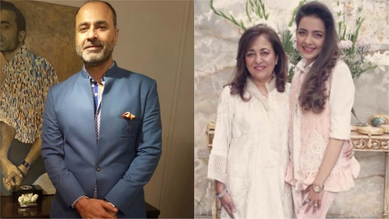 Deepak Perwani (L) and Farah Talib Aziz with her daughter, Maliha Aziz (R)