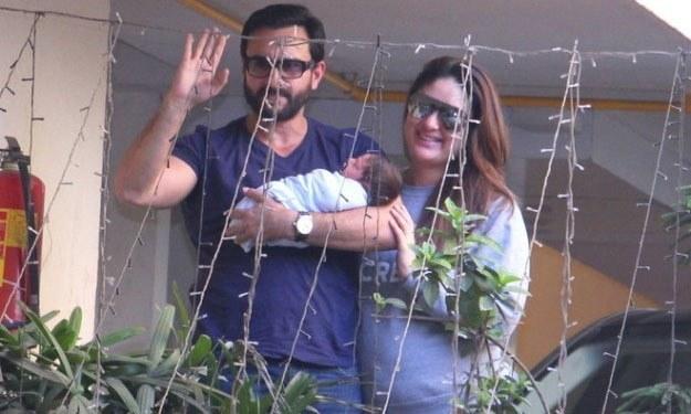 سیف اور کرینہ اپنے بیٹے تیمور کے ہمراہ—.فوٹو بشکریہ / این ڈی ٹی وی