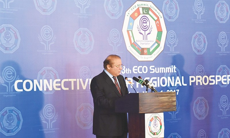 Prime Minister Nawaz Sharif during the press stakeout at Islamabad on March 1. The  CASA-1,000 Project is important for regional energy trade as it will act as a model for  subsequent trade arrangements.
