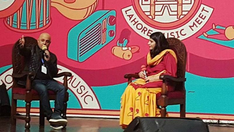 Ali Azmat in conversation with festival co-founder Natasha Noorani on the first day of Lahore Music Meet