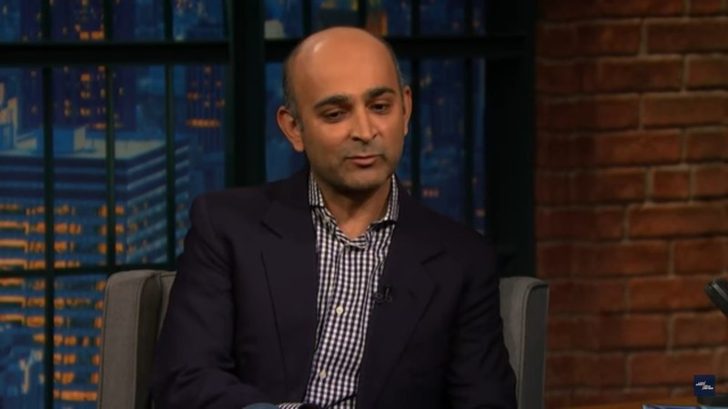 Mohsin Hamid appeared on Seth Myers' late night show to talk about his latest book Exit West