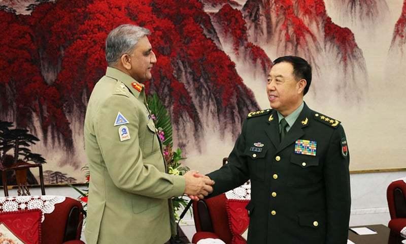 Chief of Army Staff Qamar Javed Bajwa meeting China's military leadership. -ISPR