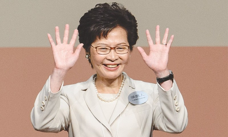China's favored candidate chosen as Hong Kong's leader