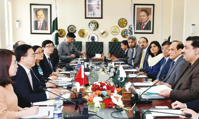 A High-level Chinese delegation led by Dr. He Zhimin, deputy commissioner, State Intellectual Property Office, China, called on Federal Minister for Commerce Khurram Dastigir Khan in Islamabad last week.