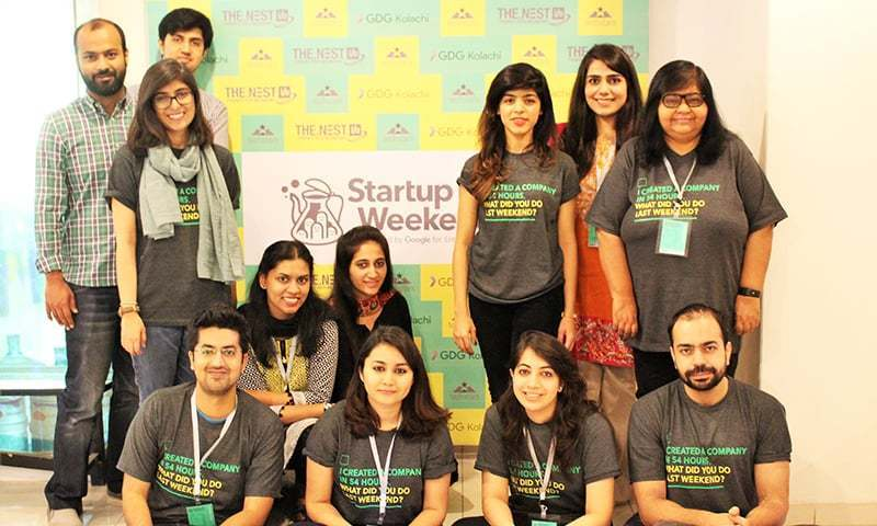 The organising team for Startup Weekend Karachi 2017. -The Nest I/O