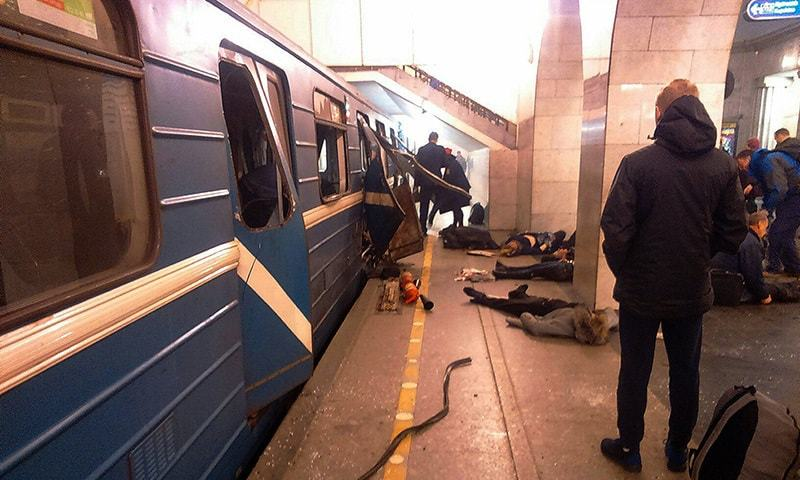 Explosion on St. Petersburg subway in Russia injures several