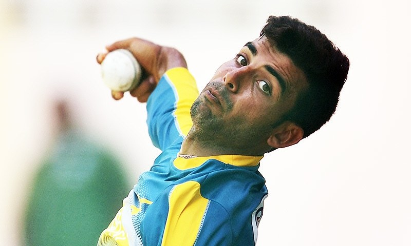 Pakistan's Shadab Khan delives a ball during a practice session at the Queen's Park Oval.—AFP / File