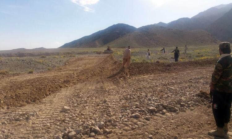 The land mafia had brought bulldozers to the park and a portion of land was ploughed. —Photo by Asmatullah Kakar