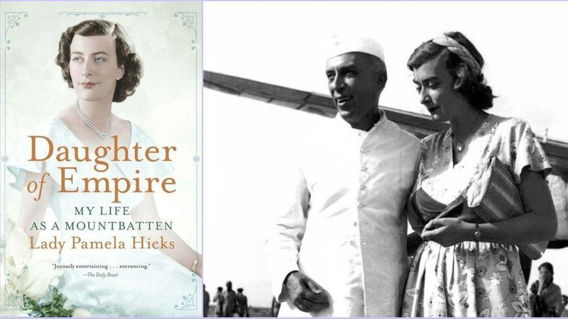 (Above right) Pamela Mountbatten with Jawaharlal Nehru as she was about to leave India in June 1948