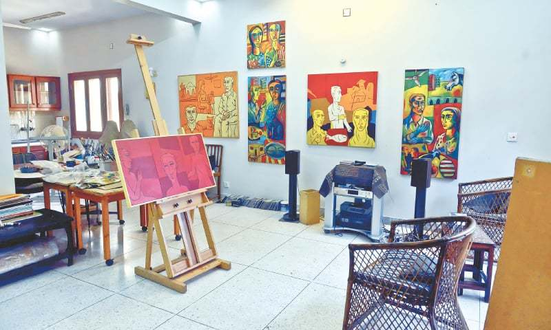 The artist's spacious studio - Photos by Fahim Siddiqi / White Star