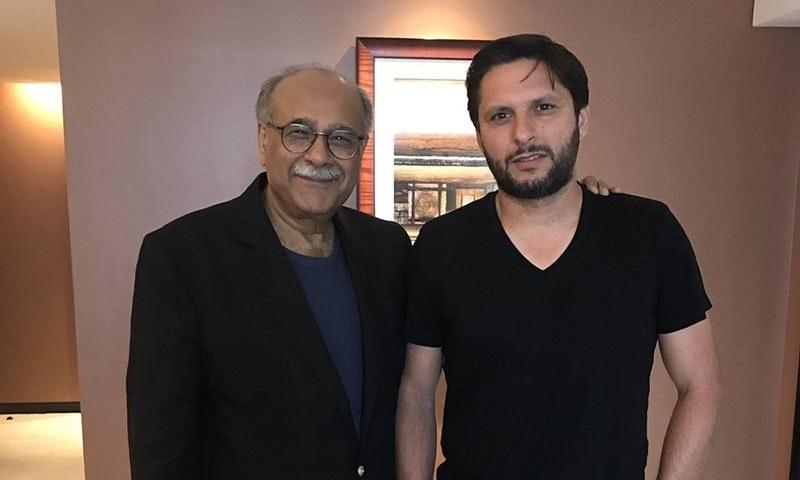 Najam Sethi discusses future contribution, farewell ideas with Shahid Afridi  - Sport - DAWN.COM
