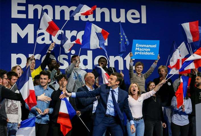 Emmanuel Macron, the newly-elected French president, at a campaign rally in Dijon, France on March 23, 2017 | REUTERS