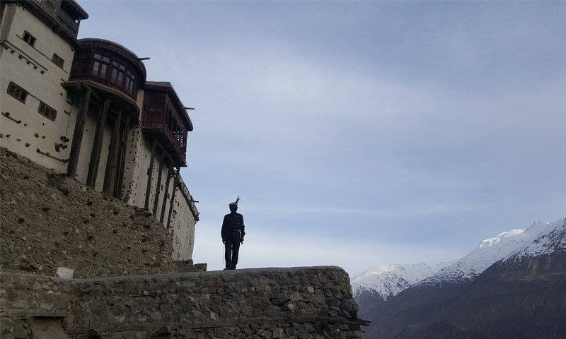 A guard standing at the 700-year-old Baltit Fort  | Photos by the writer