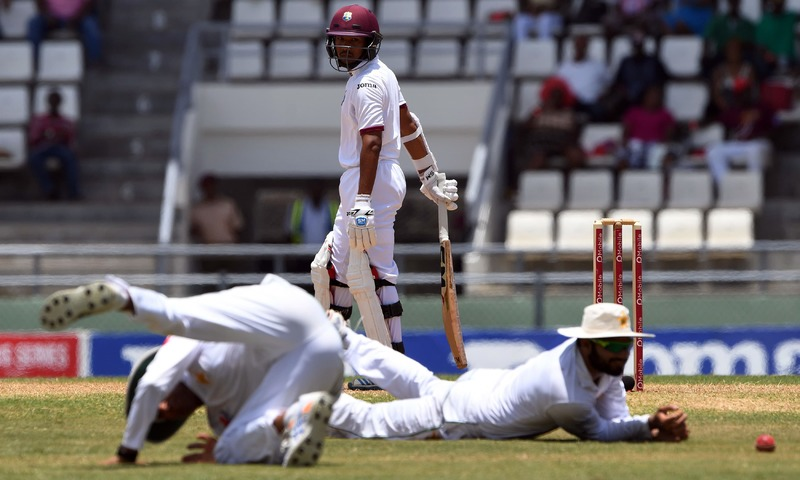Chase retires hurt as Windies crawl towards Pakistan total