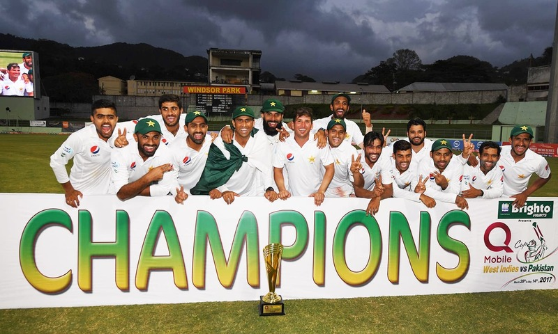 Pakistan reaches lunch on 227-3 in 3rd test in West Indies