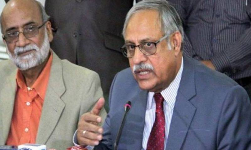 ECP Secretary Babar Yaqoob says at a press conference the ECP will train 586,000 officials.—Online