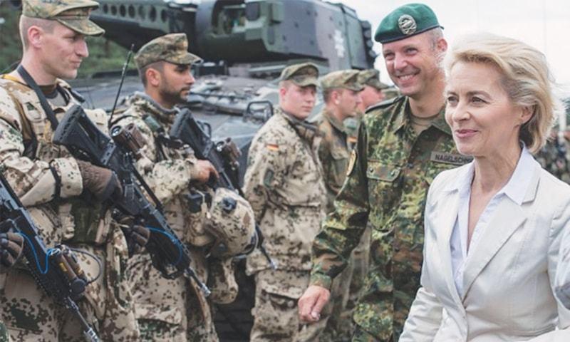 German defence minister Ursula von der Leyen.