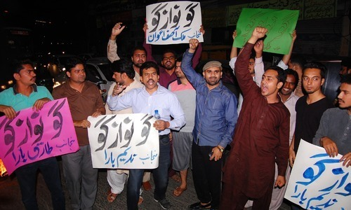 Opposition protests social media crackdown