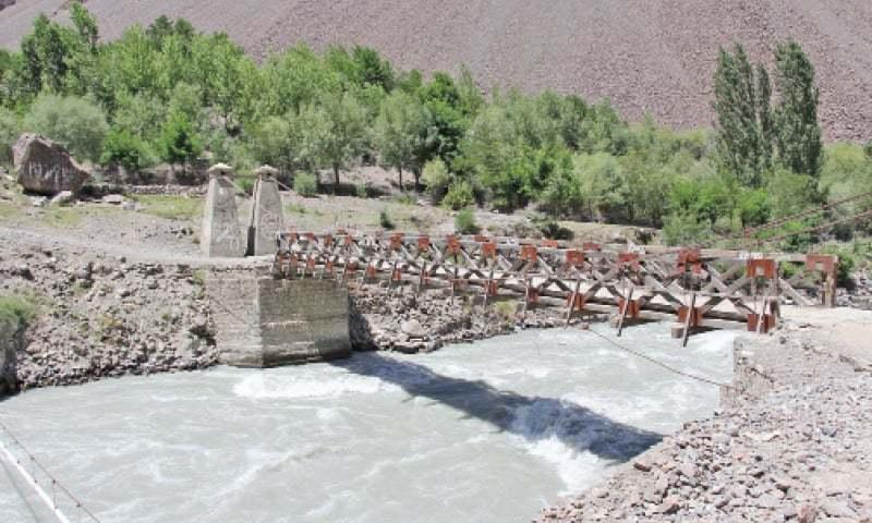 A view of the resilient Shahdas bridge. ?Dawn