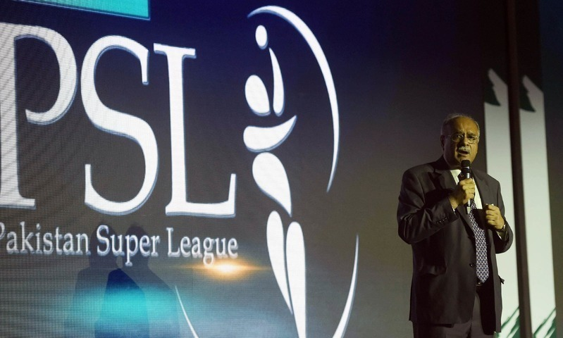 Nawam Sethi at a Pakistan Super League ceremony. — PSL Media