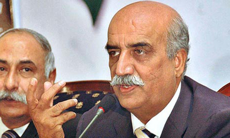Leader of the Opposition Khursheed Shah and his fellows have only been present in the parliament for speeches from their own camp. — File