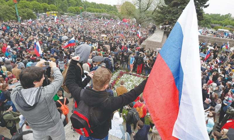 Russian opposition leader, 250 protestors arrested amid mass rallies