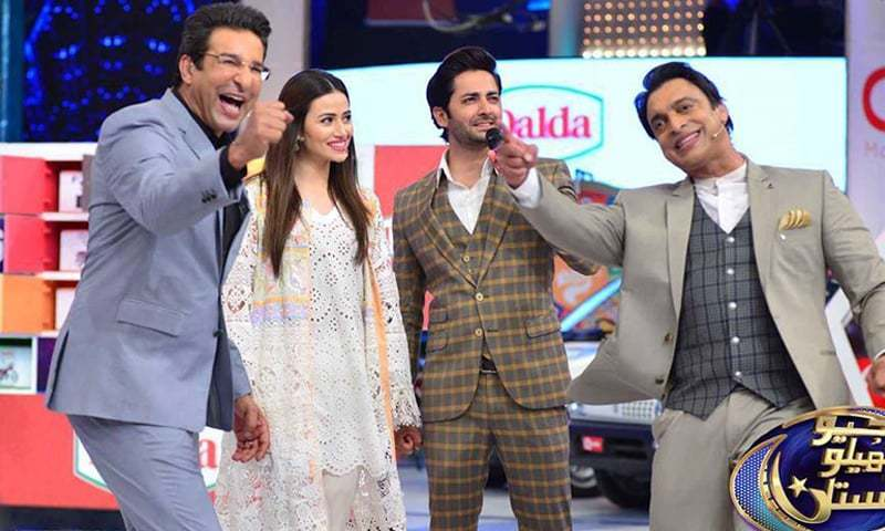 Game-show hosts Wasim Akram and Shoaib Akhtar