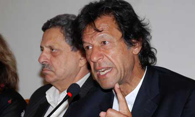 Chairman Pakistan Tehrik-e-Insaf Imran Khan. — File