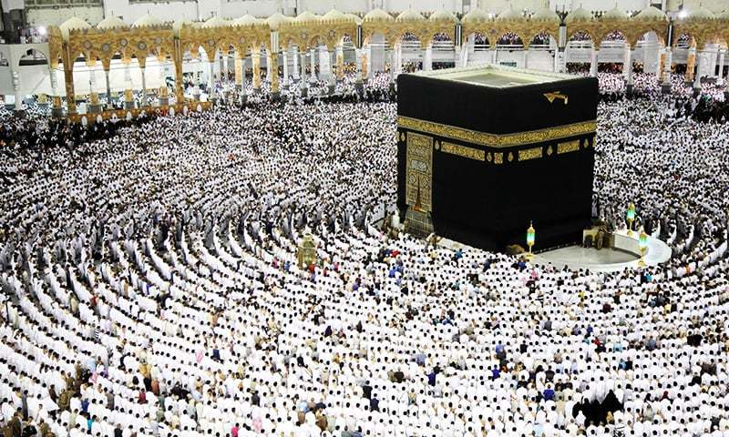 Worshippers pray at the Kaaba, the Grand Mosque in Saudi Arabia.—AFP