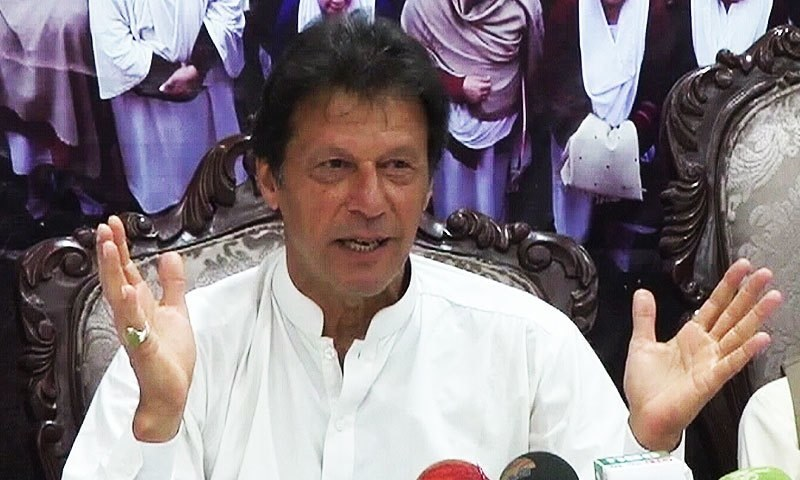 جھوٹ بولنے پر نواز شریف کو استعفیٰ دینا چاہئیے، عمران خان—فوٹو: ڈان نیوز